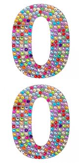 "2 PC 4"" RHINESTONE STICKERS-#0 RAINBOW (24 PACKS) PF-4757"