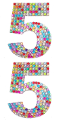 "2 PC 4"" RHINESTONE STICKERS-#5 RAINBOW (24 PACKS) PF-4752"