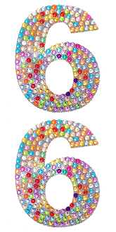 "2 PC 4"" RHINESTONE STICKERS-#1 SILVER (24 PACKS) PF-4439"