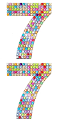 "2 PC 4"" RHINESTONE STICKERS-#7 RAINBOW (24 PACKS) PF-4754"