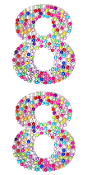 "2 PC 4"" RHINESTONE STICKERS-#8 RAINBOW (24 PACKS) PF-4755"