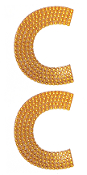"2 PC 4"" RHINESTONE STICKERS-#A (24 PACKS) PF-4458"