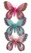 "3 PCS 3.5"" BUTTERFLY CLIPS - ASSORTED (24 PACKS) PF-4798"