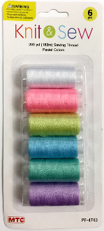 6 PCS 182M SEWING THREAD-PASTEL COLORS (24 PACKS) PF-4743
