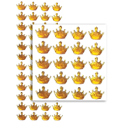 48 PCS CROWN RHINESTONE STICKERS-GOLD (24 PACKS) PF-4790