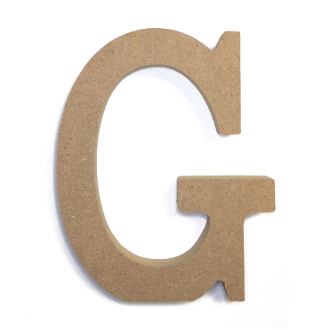 "4.5"" NATURAL WOOD LETTER - G (24 PACKS) PF-4879"