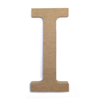 "4.5"" NATURAL WOOD LETTER - I (24 PACKS) PF-4881"