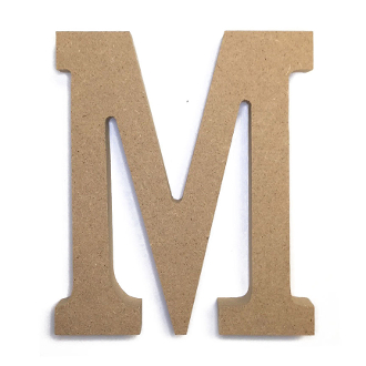 "4.5"" NATURAL WOOD LETTER - M (24 PACKS) PF-4885"