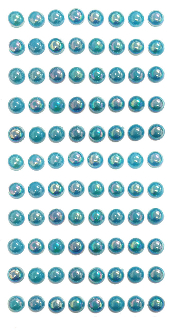 88 PC LARGE PEARL STICKERS-BLUE (24 PACKS) PF-4843