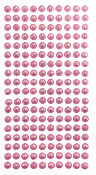 180 PC MEDIUM PEARL STICKERS-PINK (24 PACKS) PF-4845