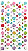 113 PCS ROSE RHINESTONE STICKERS- ASSORTED (24 PACKS) PF-4848