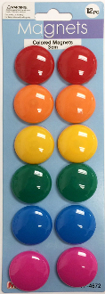 4 PCS 3.1 CM ROUND MAGNETIC CLIPS (24 PACKS) PF-4610
