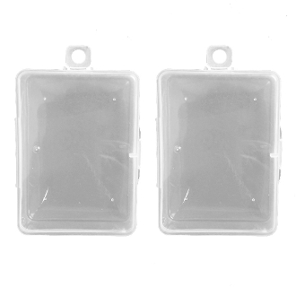 "2PC 3.5""X2.5"" PLASTIC BOXES (24 PACKS) PF-4948"