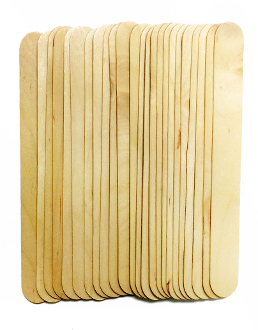 "24 PCS 8"" X 1"" WOODEN STICKS - NATURAL (24 PACKS) PF-5010"