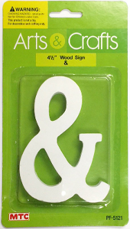 "4.5"" WHITE WOOD SIGN - & (24 PACKS) PF-5121"