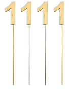 "4PC 4"" WOOD LETTER WITH STICK - #1 (24 PACKS) PF-5130"