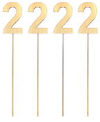 "4PC 4"" WOOD LETTER WITH STICK - #2 (24 PACKS) PF-5131"