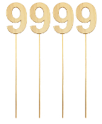 "4PC 4"" WOOD LETTER WITH STICK - #9 (24 PACKS) PF-5138"