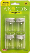 4PC 15ML GLASS BOTTLES (24 PACKS) PF-4988