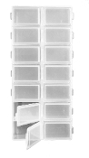 14 COMPARTMENTS PLASTIC BOX (24 PACKS) PF-5124
