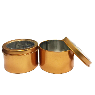 2PC 7.5CMX4.5CM TIN BOXES-GOLD (24 PACKS) PF-4941