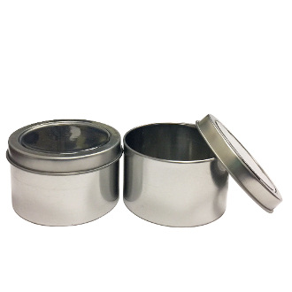 2PC 7.5CMX4.5CM TIN BOXES-SILVER (24 PACKS) PF-4942
