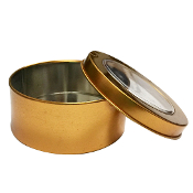 9.5CM X 4CM TIN BOX-GOLD (24 PACKS) PF-4944