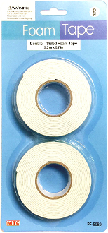 2PC DOUBLE SIDED FOAM TAPES (24 PACKS) PF-5080