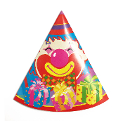 8 PARTY HATS - CLOWN (24 PACKS) PF-6832A