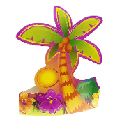 4 PARTY HATS-LUAU (24 PACKS) PF-7648