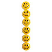 6PC 3CM SMILING FACE MAGNETS (24 PACKS) PF-5153