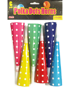 8PC POLKA DOTS HORNS (24 PACKS) PF-5089