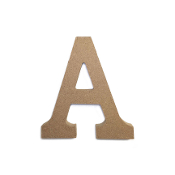 "4.5"" NATURAL WOOD LETTER - A (24 PACKS) PF-4873"