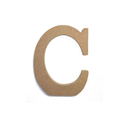 "4.5"" NATURAL WOOD LETTER - C (24 PACKS) PF-4875"
