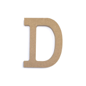 "4.5"" NATURAL WOOD LETTER - D (24 PACKS) PF-4876"