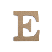 "4.5"" NATURAL WOOD LETTER - E (24 PACKS) PF-4877"