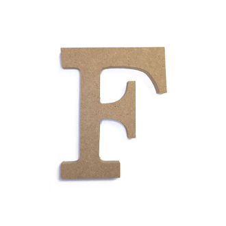 "4.5"" NATURAL WOOD LETTER - F (24 PACKS) PF-4878"