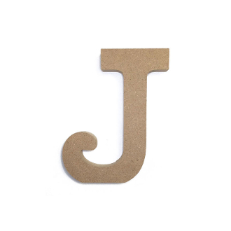 "4.5"" NATURAL WOOD LETTER - J (24 PACKS) PF-4882"