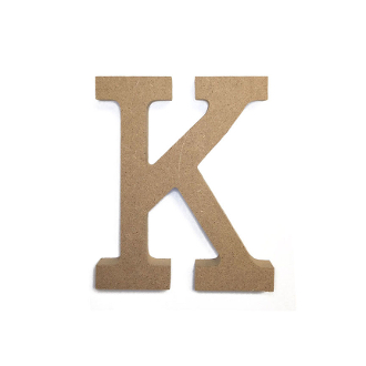 "4.5"" NATURAL WOOD LETTER - K (24 PACKS) PF-4883"