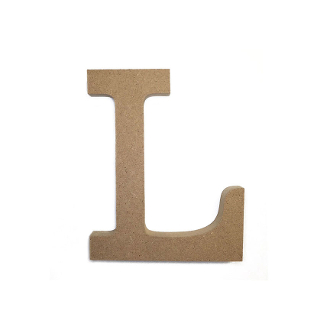 "4.5"" NATURAL WOOD LETTER - L (24 PACKS) PF-4884"