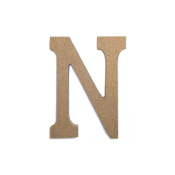 "4.5"" NATURAL WOOD LETTER - N (24 PACKS) PF-4886"