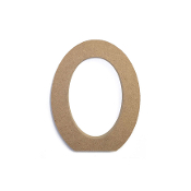 "4.5"" NATURAL WOOD LETTER - O (24 PACKS) PF-4887"