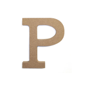 "4.5"" NATURAL WOOD LETTER - P (24 PACKS) PF-4888"