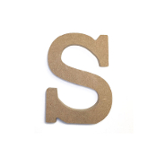 "4.5"" NATURAL WOOD LETTER - S (24 PACKS) PF-4891"