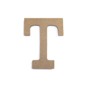 "4.5"" NATURAL WOOD LETTER - T (24 PACKS) PF-4892"