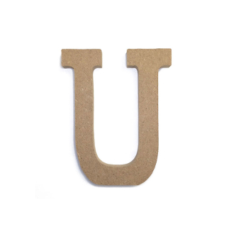 "4.5"" NATURAL WOOD LETTER - U (24 PACKS) PF-4893"