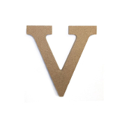 "4.5"" NATURAL WOOD LETTER - V (24 PACKS) PF-4894"
