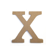 "4.5"" NATURAL WOOD LETTER - X (24 PACKS) PF-4896"