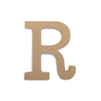 "4.5"" NATURAL WOOD LETTER - R (24 PACKS) PF-4890"