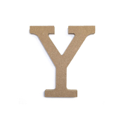 "4.5"" NATURAL WOOD LETTER - Y (24 PACKS) PF-4897"